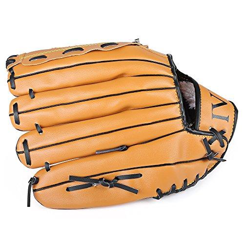 Nicole Knupfer Links Hand Baseball Handschuh Softball Handschuhe braun, braun, 38 cm