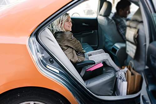 Clek Olli Backless Booster Car Seat with Rigid Latch, Thunder