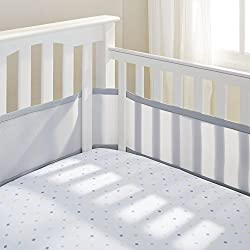 Reduces the risk of suffocation, entanglement and climbing Made from 100% polyester and is machine washable Easy wrap design is adjustable to fit slatted cots with slatted or solid ends Attaches easily with hook and hoop fastners Has a soft and padde...