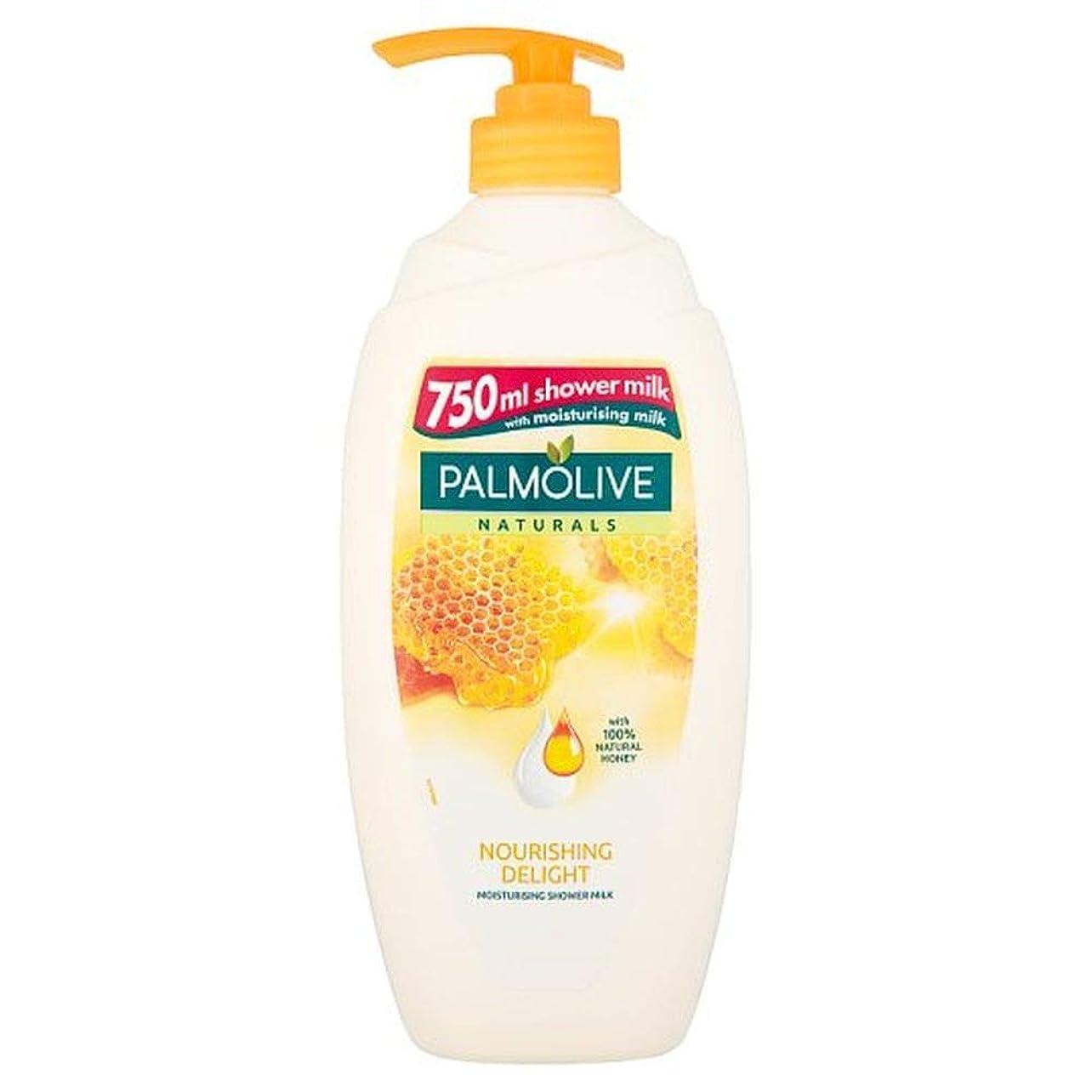 サーマル悪行サスティーン[Palmolive ] パルモナチュラルミルクとはちみつシャワージェル750ミリリットル - Palmolive Naturals Milk And Honey Shower Gel 750Ml [並行輸入品]