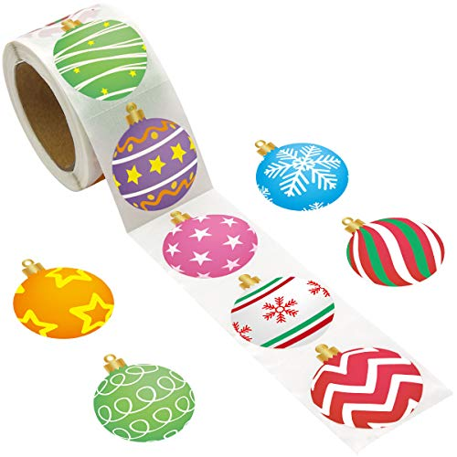 Ornament Stickers Roll Sticker for Christmas Party Supply Classroom Decoration 500 pcs
