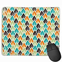 """Retro Seamless Geometric Pattern Mouse Pad Non-Slip Rubber Gaming Mouse Pad Rectangle Mouse Pads for Computers Desktops Laptop 9.8"""" x 11.8"""""""