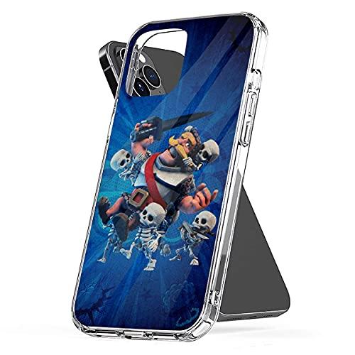 Clash Royale Custodie per Telefoni Compatibile con Cover iPhone 12/11 Pro Max 12 mini SE X/XS Max XR 8 7 6 6s Plus Custodie