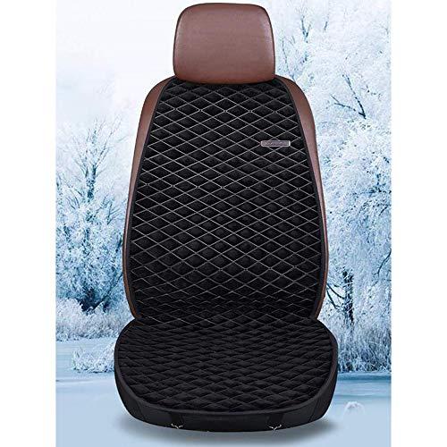 YCX Beheizbare Sitzauflage Auto Heizkissen Sitzheizung, Warm Up Heizbare Universal Tragbares Beheizbares Auto Belüfteten Löchern,Braun