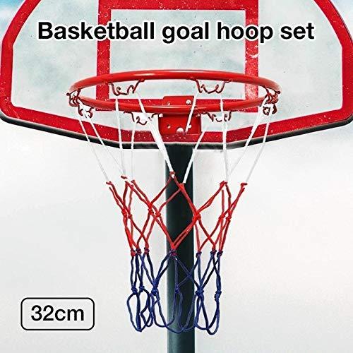 32CM Wand-Kugel-Netz Innen- und Außen Basketball Rack-Sport Net Wandkorb Net Hanging Basketball Einhängegestell Korb-Netz (Color : Red)