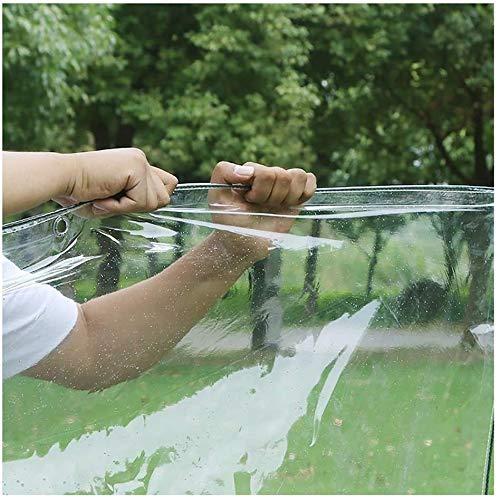 MUZIDP Cubierta Impermeable Hoja de Lona de Lona, Lona Clara, Lonas de PVC con Ojales y Bordes Reforzados, 11.8 Mil Tartas de Alta Resistencia, Lona Impermeable (Color : Clear, Size : 2m×7m)