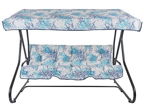 PATIO 3-Sitzer Hollywoodschaukel Milano 170 cm Gartenschaukel Sonnendach Sitzpolster Klappbar Liegefunktion G023-01PB