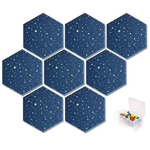 Yoillione Pin Board Hexagon Felt Board Tiles Self Adhesive Notice