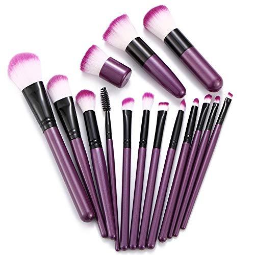 SIKUYDC Pinceaux de Maquillage mis en Poudre Eyeshadow Contour Blend Blush pour Les lèvres beauté cosmétique Doux synthétique