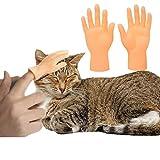 猫じゃらし猫のおもちゃ 犬用おもちゃ フィンガー ミニチュアの手 指おもちゃミニ手模型 猫用マッサージ ペット用 左右の手入り (2)