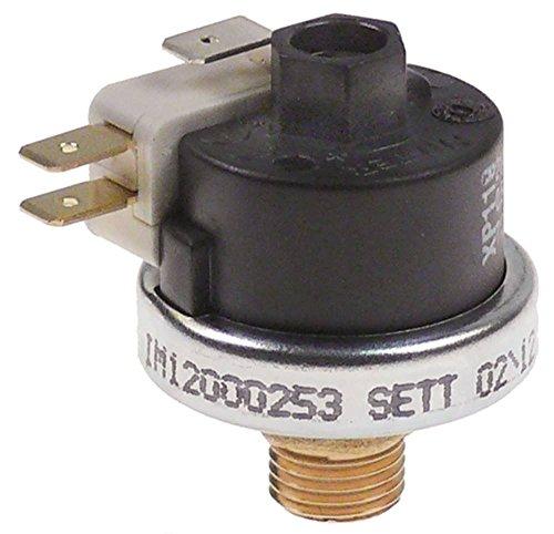 Pressostat Anschluss 1/4' 1,1bar 0,5-1,5bar ø 38mm 21A 250V 125°C voreingestellt auf 1,1bar