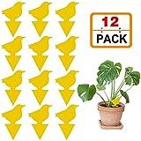 Teckey 12 Stück klebrige Insektenfänger, gelbe...