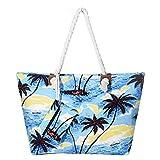 DonDon Bolso de playa grande impermeable con cremallera Beach Life