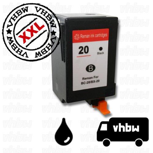 vhbw Druckerpatrone Tintenpatrone schwarz passend für Telekom T-Fax 362PC, 363PC, 5500, 5830 ersetzt Canon BC-20, BX-20