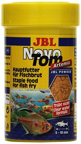 JBL NovoTom Artemia 30253 Alleinfutter für Jungfische lebendgebärender Aquarienfische, Pulver 100 ml