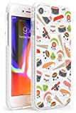 Hülle Warehouse Kawaii Sushi Mix-Muster Impact Hülle kompatibel mit iPhone 7/8 / SE TPU Schutz Light Phone Tasche mit Klar Japanisch Lebensmittel JDM Karikatur