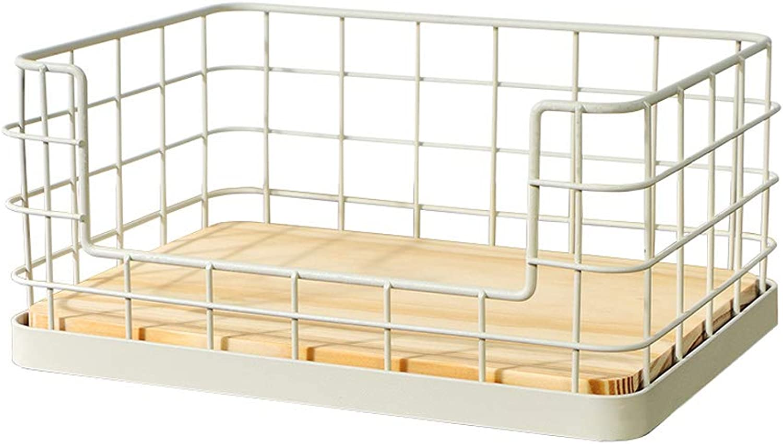 Multi-Function Cabinet Magazine Rack, Wrought Iron Desktop Storage Basket Storage Rack Kitchen Rack (color   B)