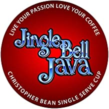 Jingle Bell Java Single Cup, Holiday Coffee Christopher Bean Coffee. (18 Count Box) Seasonal Gift Christmas, Compatible With K Cup Brewer.