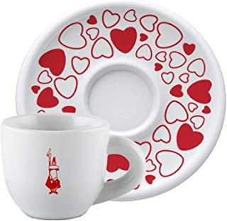Bialetti Y0TZ100 Cappuccino Cup, White and Red