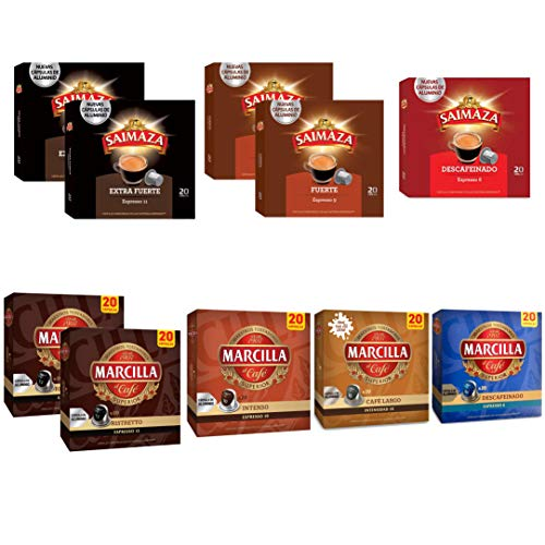 Saimaza & Marcilla Mundo español del café Surtido de Café Cápsulas - Cápsulas de café de aluminio compatibles con máquinas Nespresso® - 10 Paquetes (200 porciones)