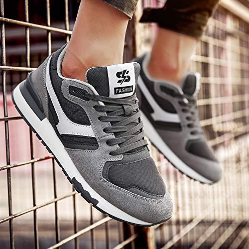 CHZDLQX Zapatillas De Baloncesto New Summer Shoes Mens Trend Wild Mens Sports Shoes Mens Tide Shoes N Word Running Shoes 43 Dark Gray: Amazon.es: Deportes y aire libre
