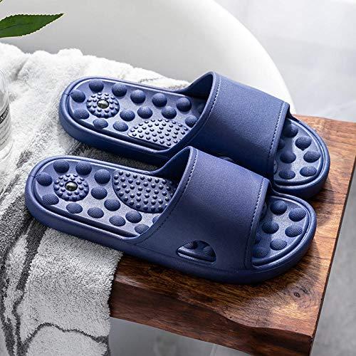 Cxypeng Bañarse Sandalias,Sandalias de Masaje de Playa para el hogar de Verano, Zapatillas de baño para Hombres, Azul Oscuro_41-42,Palabra de Mujer con Sandalias Zapatillas