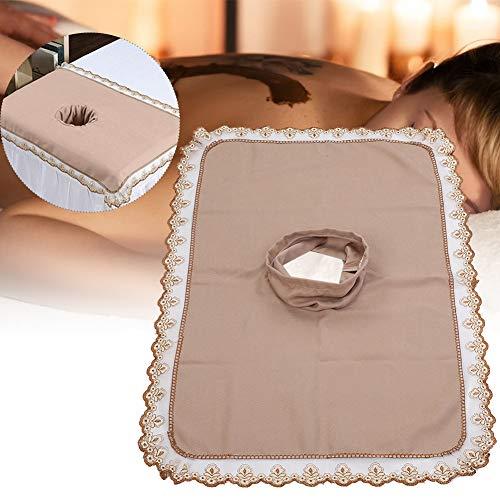 Spa-massagetafel-voorblad, massagebed-hoes met gat Massage-hoeslaken SPA-behandelingsbedovertrek voor schoonheidssalon Spa, elastische koordrand(Bruin)