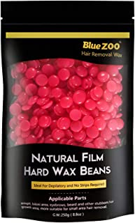 Bluezoo Strawberry Stripless Professional Depilatory Wax,Hot Film Hard Wax Beans,Ideal Depilatory Wax for All kinds of Ski...