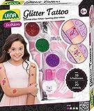 Lena 42440 Fashion Glitter Tattoo, Moda Set para Stylen y adornar con 4 Glitzerfarben, Pincel, látex y Diez Plantillas, abwaschbarer Körperschmuck para niñas a Partir de 6 años