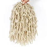 Butterfly Locs Crochet Hair Faux Locs 10 Inch 7 Packs Distressed Locs Crochet Hair For Black Women...