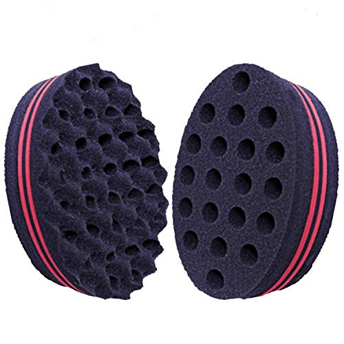 Tching Soft Brush for Waves, Hair Sponge & Comb for Curls Women Dreads Locking and Afro curl, Pack of 2 Sponge Brush for Hair (Hair Sponge)