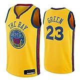 XZDM Golden State Warriors Draymond Green # 23 Camiseta De Baloncesto, Nuevo Uniforme De Baloncesto De 2021 para Hombre, Camiseta De Malla Sin Mangas Unisex para Fanático City Edition-XL