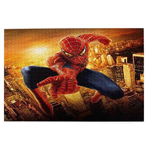 Rompecabezas de Spiderman para adultos, 1000 piezas, rompecabezas de madera de descompresión para adultos y niños