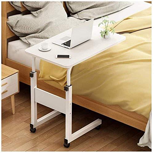 GCE tavolino portacomputer Pieghevole Tavolino Girevole Laptop Facile da Montare Supporto Stabile 60x40 cm-Bianco