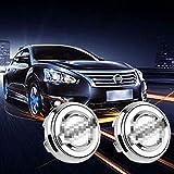 sooloon Car Wheel Center Caps Hubcap Hub Lamp Cover LED Light Magnetic Levitation Waterproof Logo for Automobile Rims Accessory 4Pcs