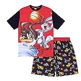 Looney Tunes - Pijama Corto de Space Jam para Hombre - Producto Oficial - Rojo - Space Jam - Mediana