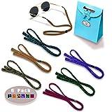 Eyeglasses Holder Strap Cord - Sunglasses Eyewear Retainer-Glasses Cord Lanyard - 6 Pack
