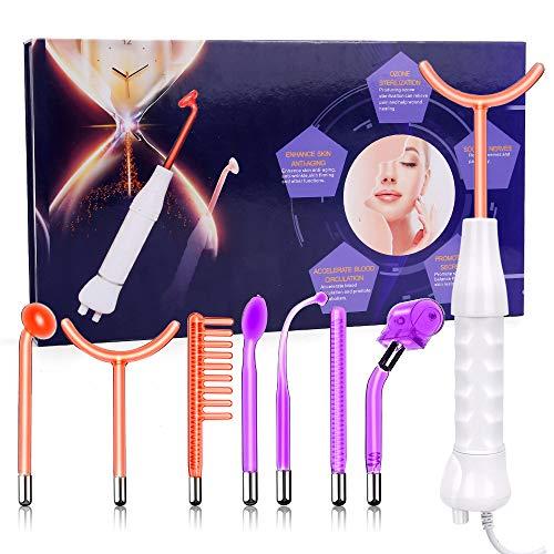 Alta Frecuencia Facial Dispositivos, 3 dispositivos de belleza Neon Gas Wands y 4 Argon Gas Wands para - Cuidado de la piel - Tratamiento del acné - Estiramiento de la piel - Reducción de arrugas