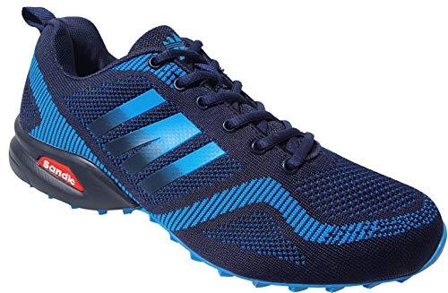 Sandic Herren Laufschuhe Sportschuhe Sneaker Turnschuhe Runners viele Farben Gr.41-46 2053 (Navy-Blau, 41, Numeric_41)