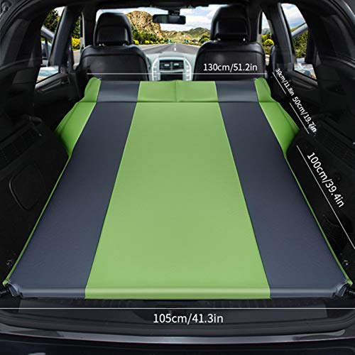 LTE Auto Automatic Inflatable Air Mattress SUV Special Air Mattress Car Bed Adult Sleeping Mattress Car Travel Bed,Double-green