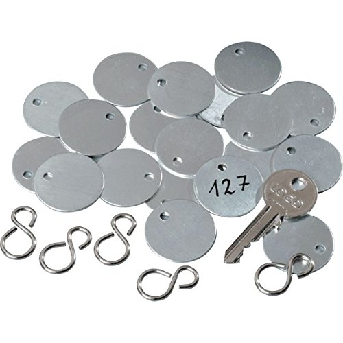 LEMAX® Kennzeichnungsmarken, blanko, glatt, Aluminium, Ø 27mm, 100/VE