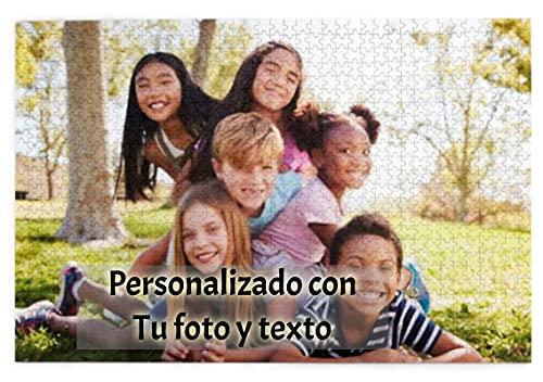 Puzzle Personalizado con Foto de 1000 Piezas Adultos, Niños, Familias, Rompecabezas de Madera, Regalo para Aniversario de Cumpleaños, Regalo para Madres/Parejas/Novios (75x50cm/29.5x19.7in)