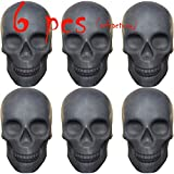 FYZTCOCPT Skull Charcoal (Fireproof)(Refractory) Imitated Human Skull Gas Log for Indoor or Outdoor Fireplaces, Fire Pits Halloween Decor (6 PCS)