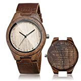 cucol Watches Wooden Leather Watch (for My Son-Mom to Son)