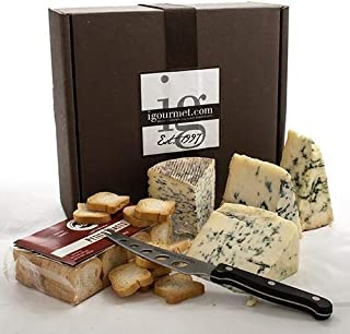 igourmet Blue Cheese and Crackers Assortment in Gift Box - Blue cheese collection in a gift box consisting of the world's ...