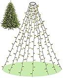 Elegear Luci Albero di Natale, 2M 400LED Luci Natale Interni ad Anelli LED Natale Decorazioni per 1,8m, 2,1m, 2,3m, 2,7m Albero di Natale, Bianco Caldo