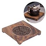 Salvamanteles de madera, Salvamantel Cuadrado de Madera, Soporte para ollas calientes para mesa y encimera, salvamanteles de cocina para tetera