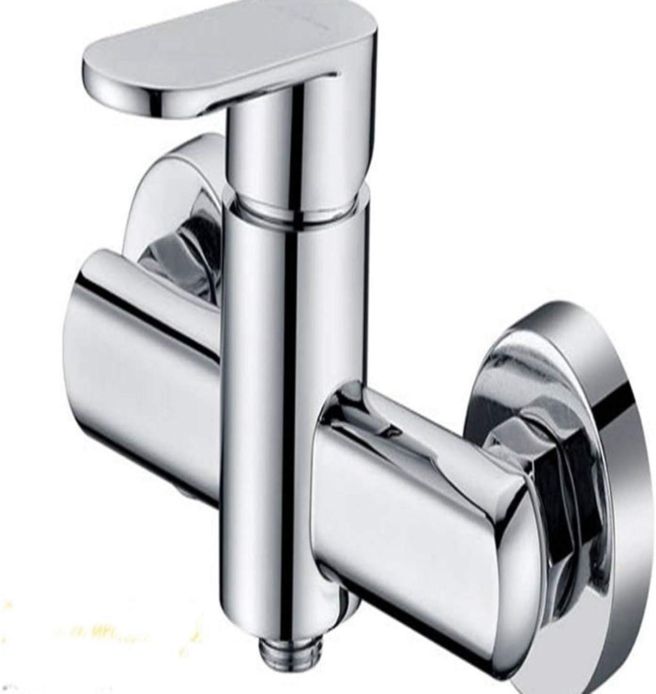 Santonliso Single Handle Above Counter Bathroom Sink Faucet Combo Shower faucet multi-function bathtub faucet Copper Basin Mixer Taps (color   Silver)