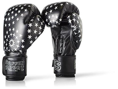 Paffen Sport Lady Frauenboxhandschuhe – Boxhandschuhe für Damen – schwarz/Silber – 10UZ
