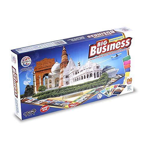 Ratna's Big Business Board Game Jumbo Size With Plastic Money coins